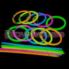 50 Pulseras Glow Stick con conectores brillan en la oscuridad Palos