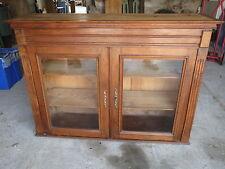 Ancien meuble haut de vaisselier 2 portes vitrées déco chalet campagne