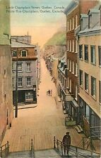 Canada, Quebec, Little Champlain Street Early Postcard