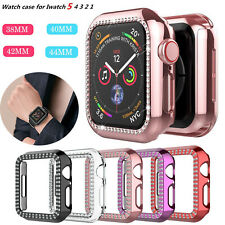 For Apple Watch Series 5/4/3/2 Bling Diamond Hard Case Protective Bumper Cover