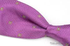 "CANALI Fuschia Purple Woven Geometric 100% Silk Mens Luxury Tie - 3.75"""