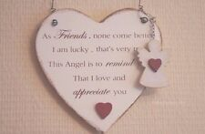 Plaque As Friends Come None Better Than You Heart Sign & Keyring Angel F1326E