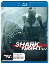 Shark Night (Blu-ray, 2012) [3D Blu-ray + Blu-ray] REGION B PAL NEW FREE POST