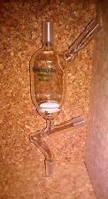 CHEMGLASS Glass Filter Funnel 60 ml Medium Frit  Valve On Side Arm 14/20 JNT