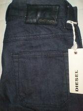 Diesel Fluzi Mid Wide Flare Stretch Denim Jeans Size 24 x 32.75 New Dark $180