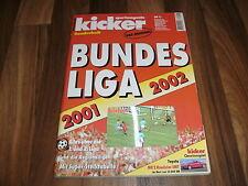 KICKER SONDERHEFT:   BUNDESLIGA  01/02 -- 2001/2002  /alle Mannschaften in Farbe