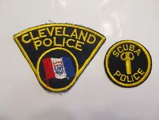 New listing Ohio Cleveland Police Scuba Patch Set Old Cheese Cloth