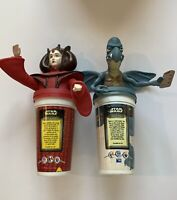 Episode I 1 Star Wars Queen Amidala & Watto Cup Topper 1999 Taco Bell Pizza Hut