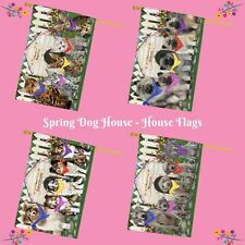 Spring Dog House House flag, Dogs, Cats, Pet Photo Lovers Flag Gift