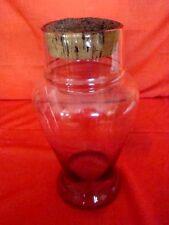 bocal en verre incolore soufflé époque début 20ème