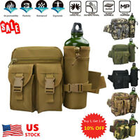 US Military Tactical Water Bottle Waist Pack Camping Outdoor Belt Bag Waist Bag