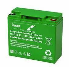lslc22-12 18 hole 22ah lucas electric golf trolley battery