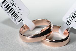 1 Paar Trauringe Eheringe Gold 585 - Rotgold - Breite 5mm Stärke 1,2mm