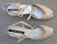 Peter Kaiser  women's mocha high heel shoes size 6 1/2