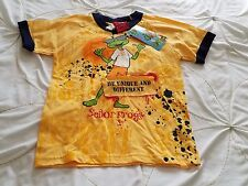 Nwt Senor Frogs Boy's S Yellow Frog Short Sleeve 100% Cotton T Tee Shirt