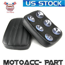 Black Rear Fender Passenger Pillion Pad Seat 6 Suction Cup For Harley 883 1200