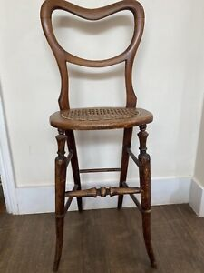 Antique Correction Chair  Victorian  Cane Seat High Back