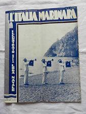 Rivista L'ITALIA MARINARA Anno XXXV N°6 Giugno 1934-XII Lega Navale