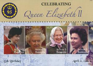 Antigua & Barbuda 2021 MNH Royalty Stamps Queen Elizabeth II 95th Bday 4v M/S