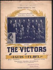 The Victors U of Michigan Football 1899 Large Format Sheet Music