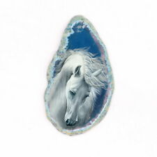 Color Printing Horse Agate Gemstone Pendant Necklace Y1901 0343