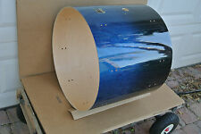 "GRETSCH 22"" CATALINA MAPLE GLOSS BLUE FADE BASS DRUM SHELL for UR DRUM SET V959"