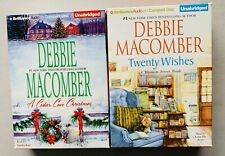DEBBIE MACOMBER, TWENTY WISHES, CEDAR COVE CHRISTMAS, 2 UNABRIDGED AUDIO BOOKS