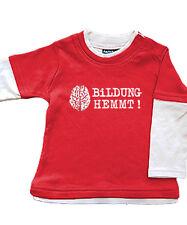 Babybugz Skate Layered Top Shirt Baumwolle Pullover NEU rot weiß Bildung 3-6 Mon