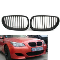 2Pcs Front Kidney Grille Grill For BMW E60 E61 5 Series 2003-09 Matte Black New