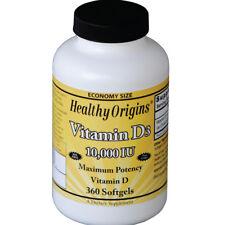 Healthy Origins Vitamin D3 10 000 IU 360 Cápsulas de gel
