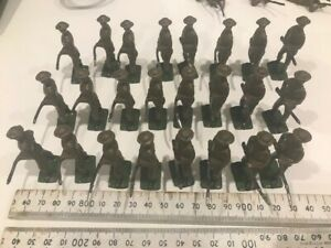 Collection (24) vintage 1930s WWI Britains Ltd Lead Soldiers w/ rifle & bayonet