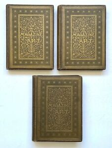 THE MAGAZINE OF ART ILLUSTRATED (3 Volumes), c1880 - Rare as a Set
