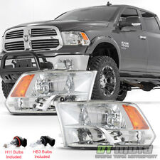 2009-2018 Dodge Ram 1500 2500 3500 Factory Quad Style Headlights Headlamps 09-18