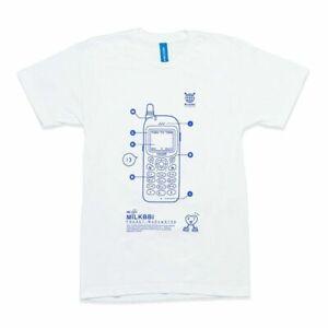 MILKBBI Ultra Kawaii MB-143 Phone T-Shirt, White, Small