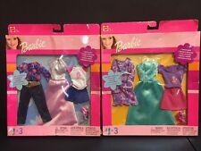 Barbie Doll Clothing-NIP- Lot 2 (6 Outfits) Fashion 2002 Retro Vintage -68585-