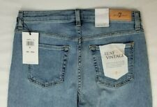 7 For all Mankind Luxe Vintage Alexa Cropped Trouser Blue Denim Jeans Size 29