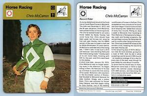 Chris McCarron - Horse Racing - 1977-9 Sportscaster Rencontre Card