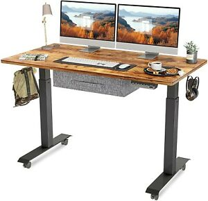 """FEZIBO Electric Height Adjustable Standing Desk with Drawer, 48"""" x 24"""""""