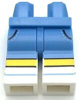 Lego New Minifig White Hips Pants with Light Flesh Bare Legs and Zigzag Outline