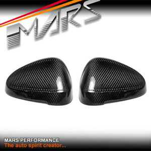 Carbon Replace Mirror Cover caps for AUDI A4 S4 RS4 B9 A5 S5 RS5 F5 No Assistant