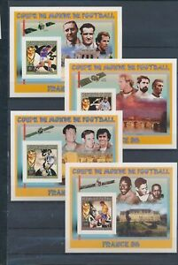 XC78462 Mali 1998 imperf world cup soccer sheets MNH