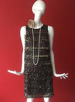 MANGO MNG Sequin Flapper Gatsby 1920s Charleston Party Mini Dress Size XL 12-14