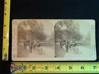 U & U Stereoview - Goat Carriages, Central Park, New York City, NY, c.1891