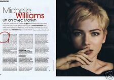Coupure de presse Clipping 2012 Michelle Williams (3 pages)