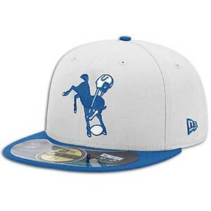 Indianapolis Colts Retro New Era 59 Fifty Fitted hat - size 7 1/8 nwt Free Ship