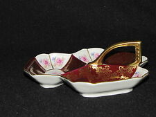 Old Mitterteich Bavaria Handled 3 Section Nut or Candy Dish Germany
