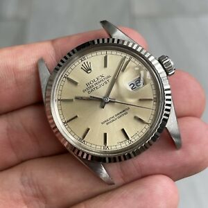 VINTAGE ROLEX OYSTER PERPETUAL DATEJUST REF. 16014 CIRCA 1988 WHITE GOLD BEZEL