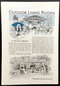 Outdoor Living Room 1938 Design PLANS IDEAS Backyard Sunroom