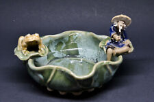 Chinese vintage mud man and frog bowl - 5 inches wide - �