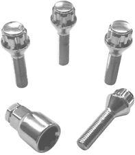 Satz APT Felgenschlösser Felgenschloss silber Set 4x M12x1,5x35mm Kegelbund 60°